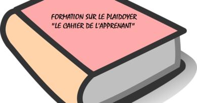 FORMATION SUR LE PLAIDOYER «LE CAHIER DE L'APPRENANT»