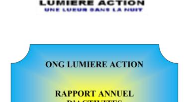 RAPPORT ANNUEL D'ACTIVITES 2018 DE «ONG LUMIERE ACTION»